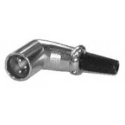 Konektor MIC kabel kov  3PIN úhlový