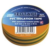 Izolační páska PVC 15/10m  zelenožlutá