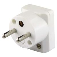 Vidlice úhlová pro prodlužovací kabel, bílá
