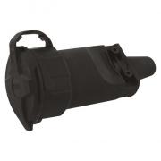 Gumová zásuvka pro prodlužovací kabel, černá