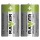 Alkalická baterie RAVER LR14 (C), blistr