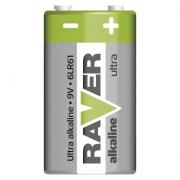 Alkalická baterie RAVER 6LF22 (9V), blistr