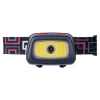 CREE LED + COB LED čelovka P3531, 330 lm, 54m, 3× AAA
