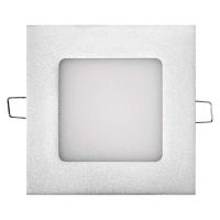 LED panel 120×120, čtvercový vestavný stříbrný, 6W neutr. b.