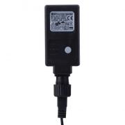 120 LED řetěz pulzující, 12m, IP44, jantarová/červená, čas.