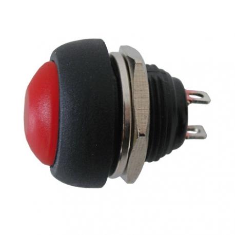Přepínač tlačítko kul.  OFF-(ON)  střed červený