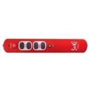 Ovladač dálkový  SEKI   SLIM červený pro seniory - univerzální - velká tlačítka
