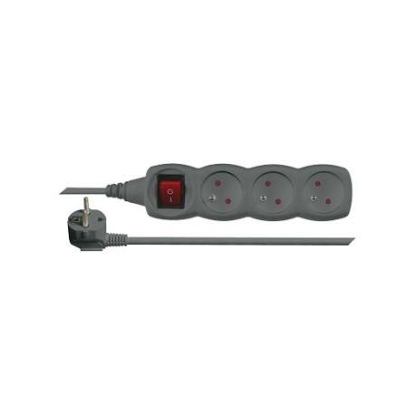 Prodlužovací kabel s vypínačem 3 zásuvky  1,5m černý