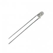 LED  3mm  bílá  3000mcd/30°  čirá