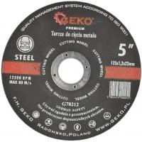 Kotouč řezný na kov, 125x1,2mm GEKO