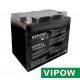 Baterie olověná  12V/75Ah  VIPOW bezúdržbový akumulátor