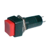 Přepínač tlačítko čtv. OFF-(ON) 250V/1A červené