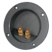 Reprosvorka RSA-3 2x kulatá zlatá pr. 74