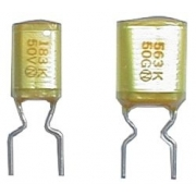 Kondenzátor svitkový  18N/50V  AMZV  rad.  rm5   C  DOPRODEJ