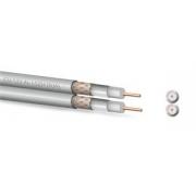 Koaxiální kabel  Zircon CU 122 AL LSZH DUAL - bezhalogenní- návin 100 m