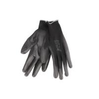 """Rukavice 11"""" černé z polyesteru polomáčené v PU, EXTOL PREMIUM"""