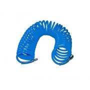"""Hadice vzduchová spirálová s rychlospojkami 1/4"""", ∅vnitřní 6mm, L 10m EXTOL CRAFT"""