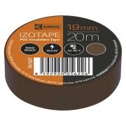 Izolační páska PVC 19mm / 20m hnědá