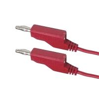 Propojovací kabel 0,35mm2/ 1m s banánky červený