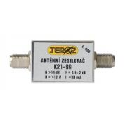 Anténní zesilovač nízkošumový DVB-T 14dB F-F Teroz 406X