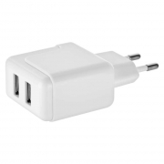 Duální USB adaptér do sítě + micro USB kabel + USB-C redukce