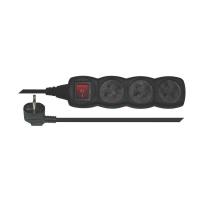 Prodlužovací kabel s vypínačem 3 zásuvky  5m černý