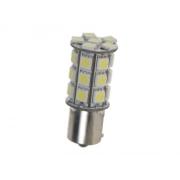 LED žárovka 12V s paticí BA15s bílá, 27LED/3SMD 95103