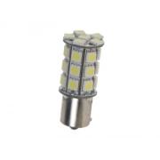 LED žárovka 12V s paticí BAU15s bílá, 27LED/3SMD 95123