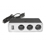 Autoadaptér LTC LX403V 1x USB 3x 12V