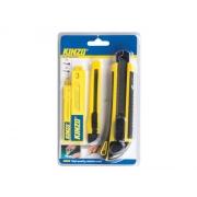 Nůž ulamovací 18mm a 9mm plastový s kov.výztuhou + náhradní čepele, KINZO