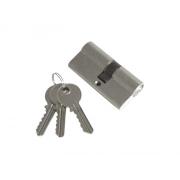 Vložka cylindrická, 65mm (30+35mm), 3 klíče, mosazné poniklované tělo, EXTOL CRAFT