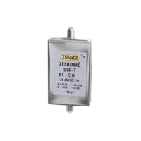 Anténní zesilovač TEROZ 496X, UHF s filtrem LTE+GSM, G14dB, F3dB, U95dBμV, F-F