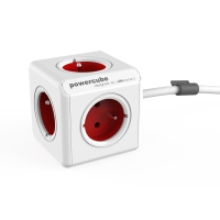 Zásuvka POWERCUBE EXTENDED s kabelem 1.5m RED