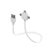 Kabel USB - MICRO USB / MINI USB / LIGHTNING POWERCUBE WHITE