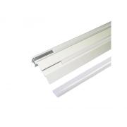 AL profil Stair pro LED pásky, s plexi, 2m