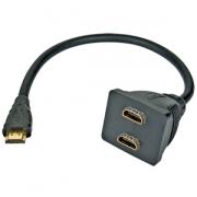 Adapter HDMI rozdvojka M - 2x F konektory pasivní