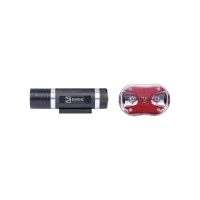 Svítilna na kolo SET 1+3x LED, na 3+2x AAA, přední+zadní