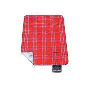 Pikniková deka s popruhem SPOKEY PICNIC TARTAN 150x180 cm červené káro