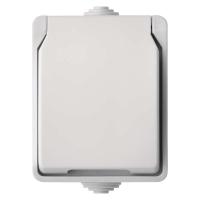 Zásuvka nástěnná dvojitá, bílá, IP44