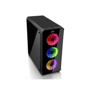 Pc Case EVOLVEO RAY 5RB ATX, 3x RGB rainbow ventilátor