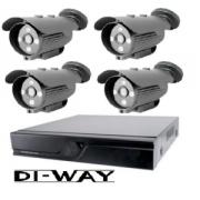 Zvýhodněný set: DI-WAY HDCVI 2+2+1 kamerový systém