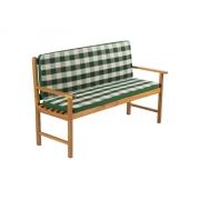 Potah na 3 místnou lavici - pruhovaný zelený FIELDMANN FDZN 9108