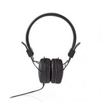 Kabelová Sluchátka | On-ear | Skládací | Kulatý Kabel 1,2 m | Černá barva