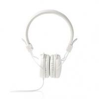 Kabelová Sluchátka | On-ear | Skládací | Kulatý Kabel 1,2 m | Bílá barva
