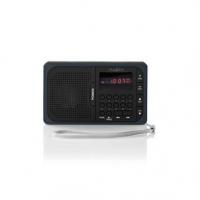 """FM rádio   Přenosné Provedení   FM   Napájení z baterie / Síťové napájení   Digitální   3.6 W   Velikost obrazovky: 2.0 """"   Čern"""