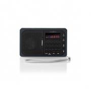 FM Rádio | 3,6 W | Port USB a Slot na microSD kartu | Černá / Šedá