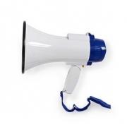 Megafon | 10 W | Dosah 250 m | Vestavěný mikrofon | Bílá / Modrá