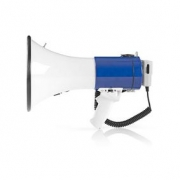 Megafon | 25 W | Dosah 1 500 m | Odpojitelný Mikrofon | Bílá / Modrá