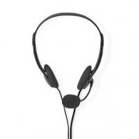 PC sluchátka | Na Uši | Stereo | 2x 3.5 mm | Sklopnou Mikrofon | 2.00 m | Černá