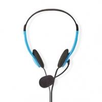 PC sluchátka | Na Uši | Stereo | 2x 3.5 mm | Sklopnou Mikrofon | 2.00 m | Modrá